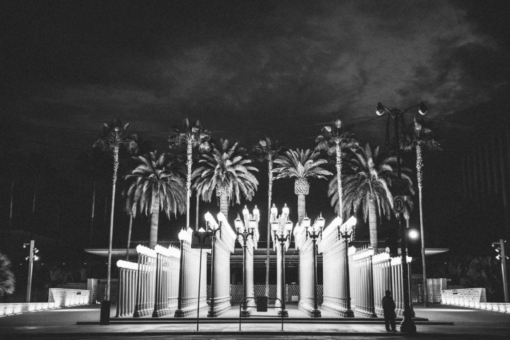 A photo of street light in Los Angeles