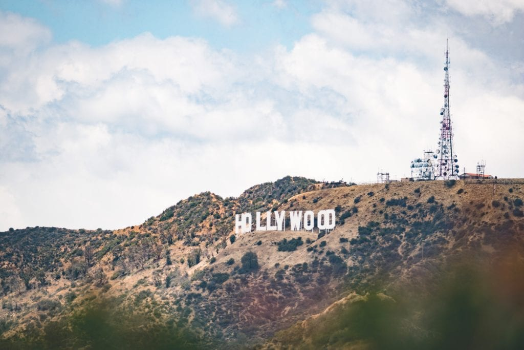 A photo of the hollywood sign in Los Angeles